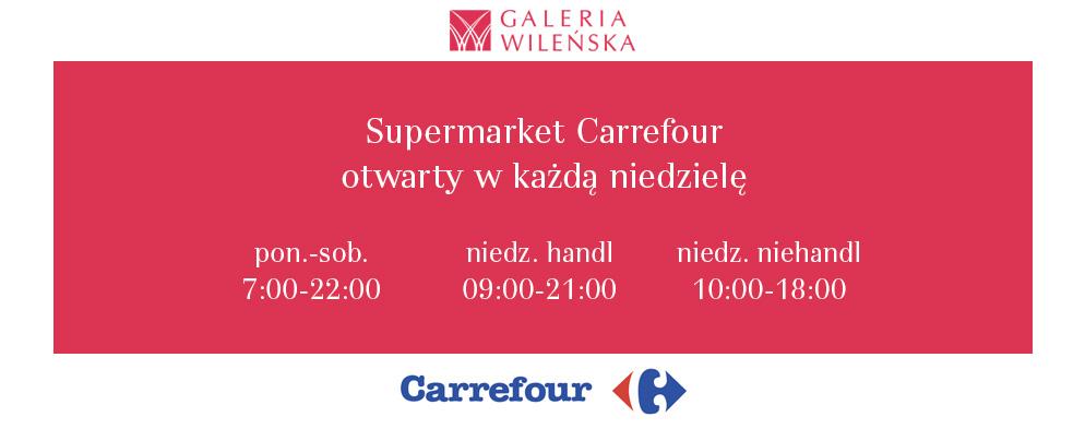 Carrefour otwarty w każdą niedzielę