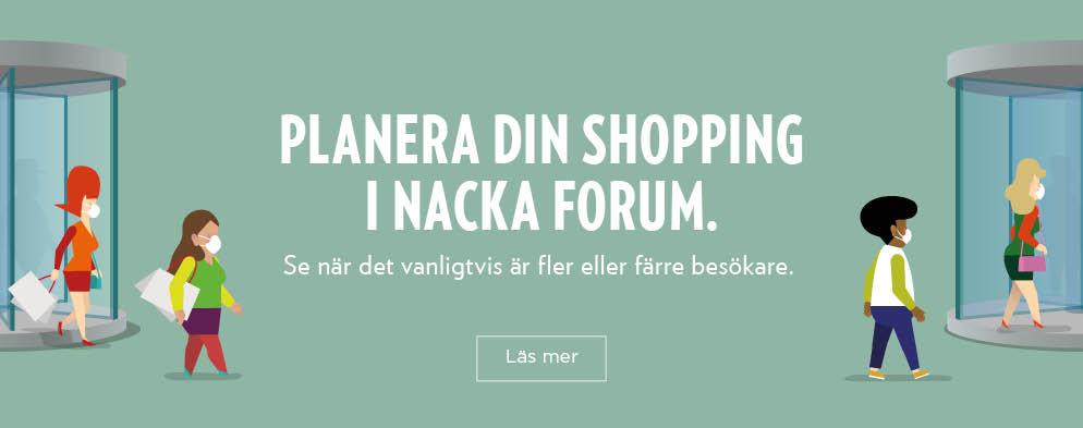 Planera din shopping i Nacka Forum