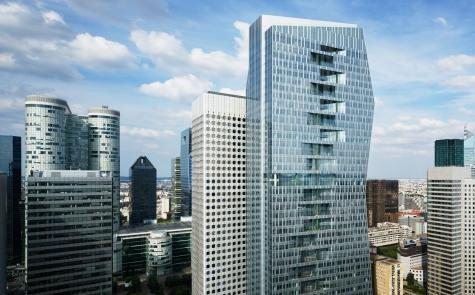 3D rendering of Majunga tower in La Défense