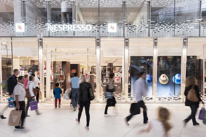The Nespresso store at the CNIT