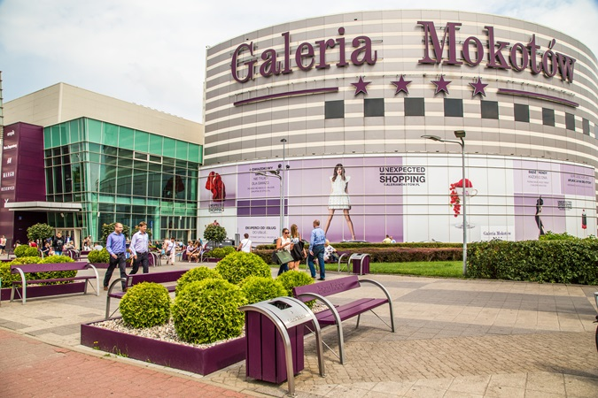 The facade of Galeria Mokotów shopping centre