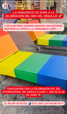 Celebrating Pride Month 2021; La Maquinista Spain