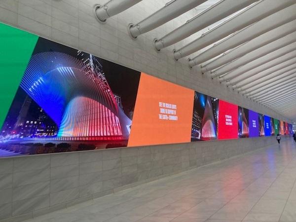 Celebrating Pride Month 2021; The Oculus New York USA Westfield World Trade Center