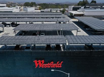New-sustainability-linked-revolving-credit-facility; Solar Panels - Westfield UTC - Green energy power
