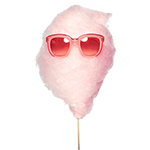 cotton candy with sunglasses