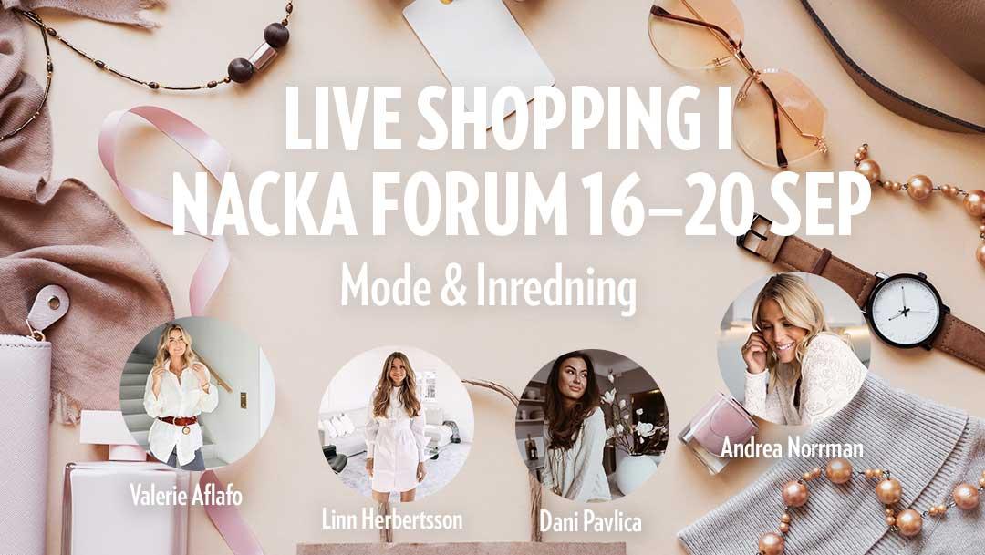 Liveshopping med Nacka Forum