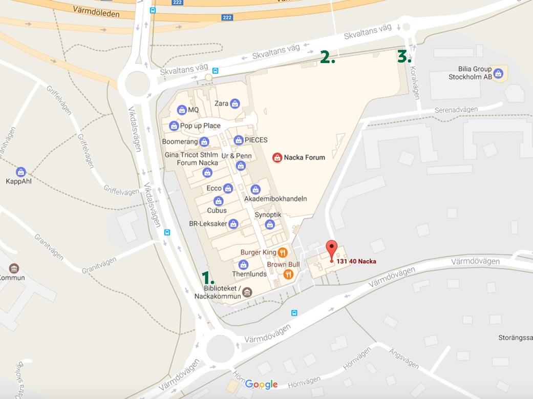 nacka forum parkering