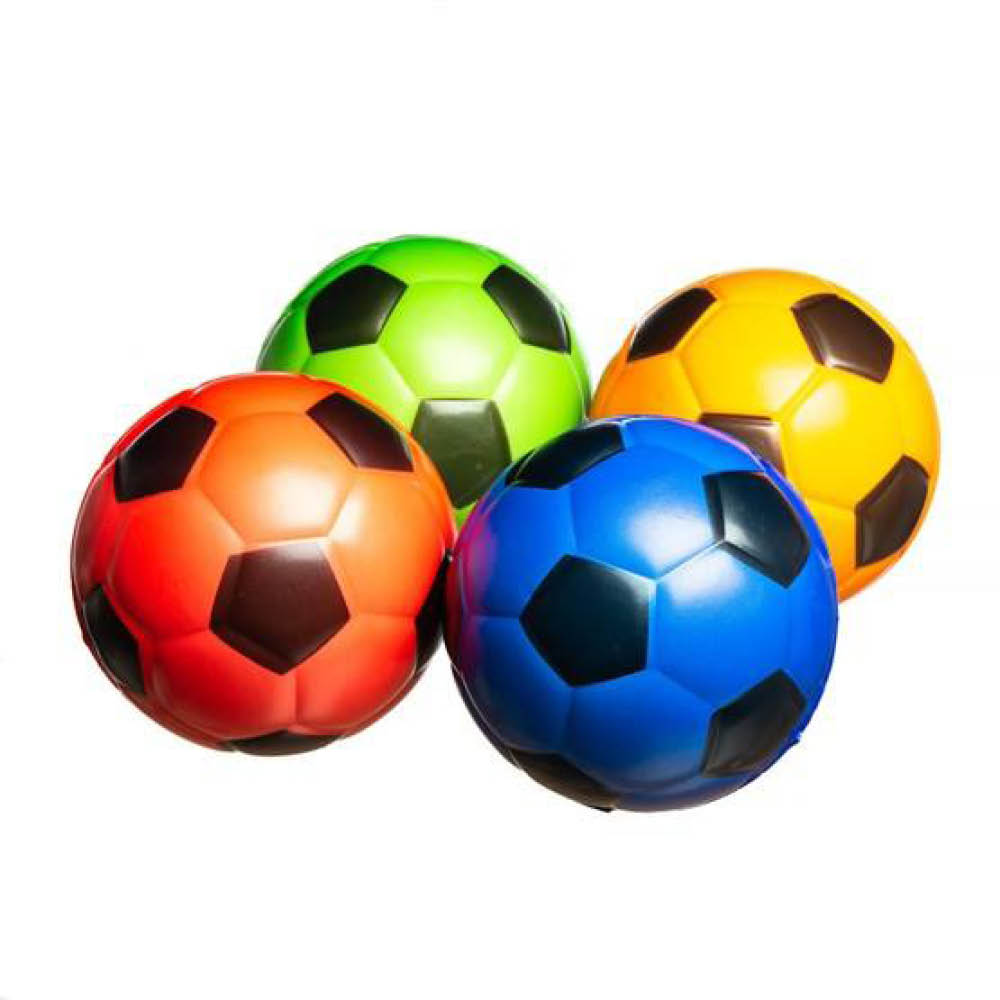 Fotbollar i olika färger
