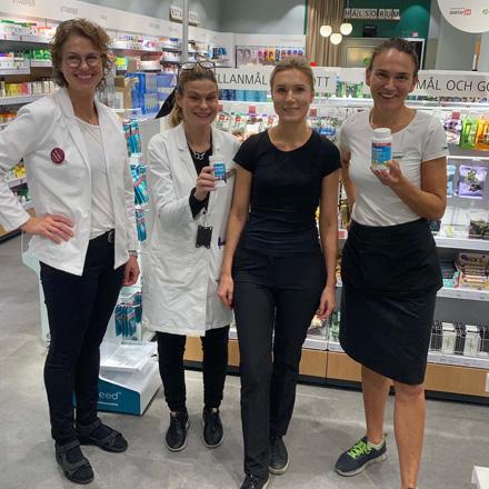 Fyra medarbetare från Apoteket i Täby Centrum