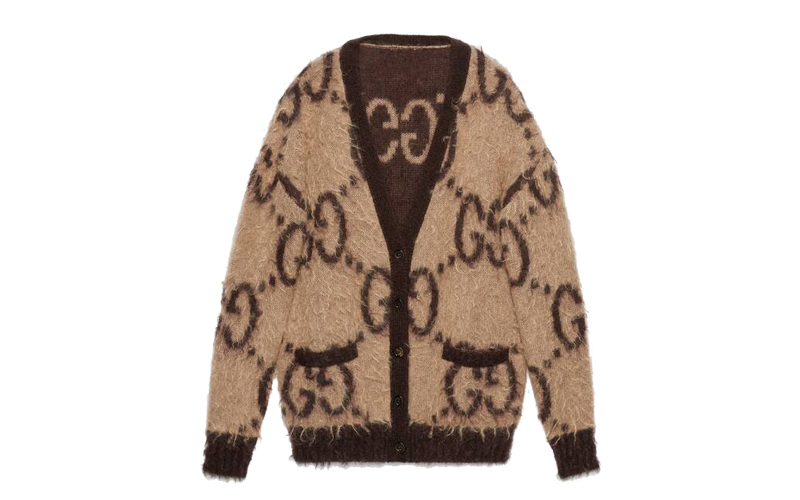 Reversible GG Mohair Wool Cardigan, Gucci