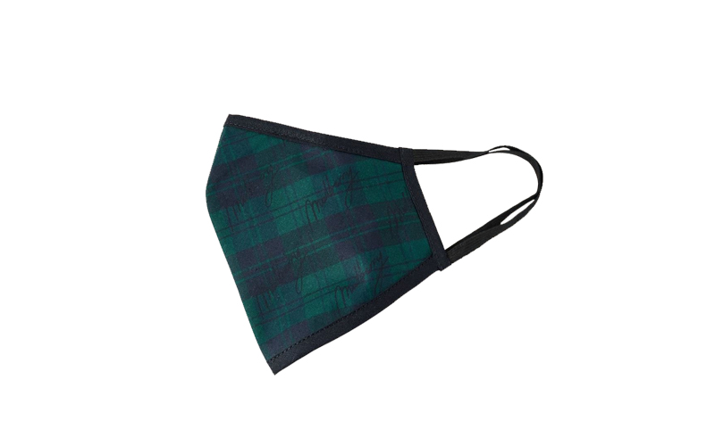 Tartan Check Face Covering, Mulberry
