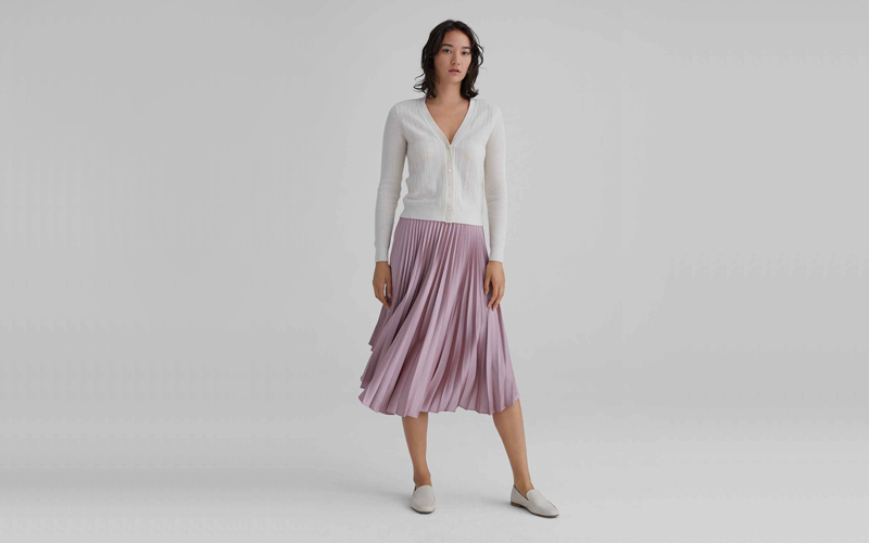 Elasticated Pleated Skirt, Club Monaco