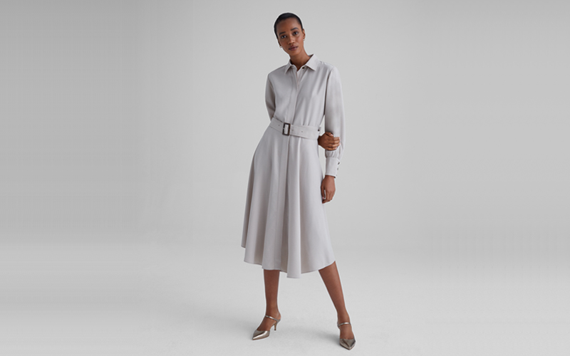 Curved Hem Shirtdress, Club Monaco