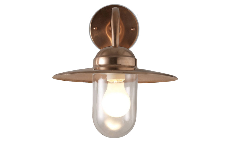 Nordlux Luxembourg Outdoor Wall Light, Copper John Lewis and Partners