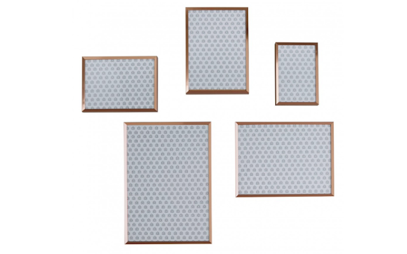 Set of 5 Copper metal picture frames, Habitat