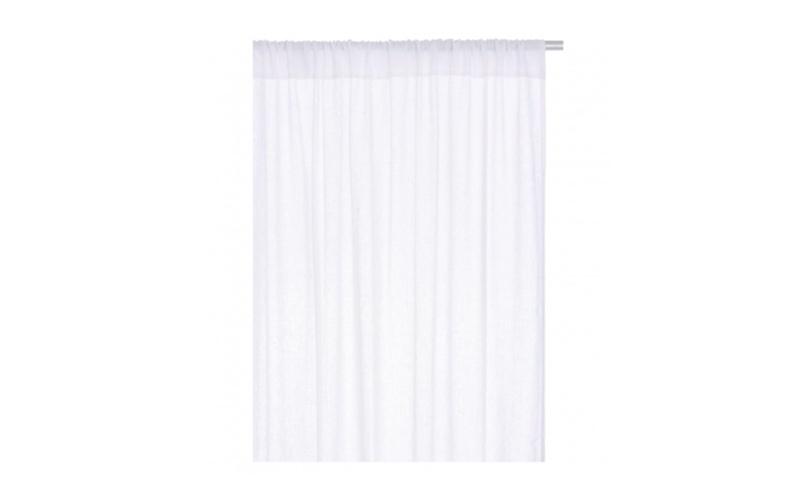 Pair Of White Linen Curtains, Habitat