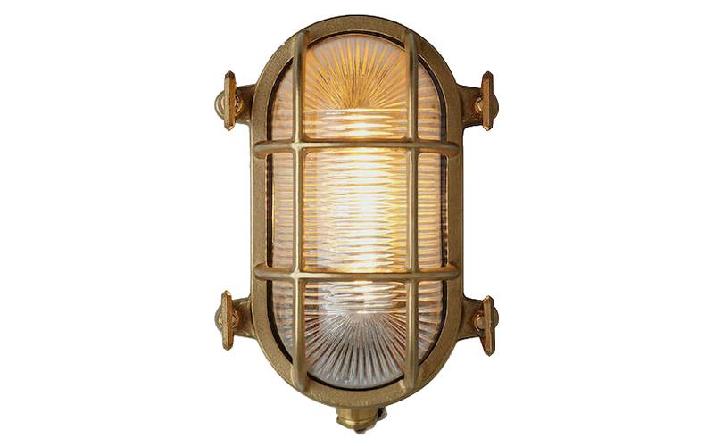 Brass Nordlux Bulkhead Outdoor Wall Light, John Lewis & Partners