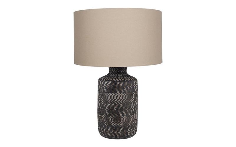Black Stoneware  Nalpur Table Lamp, Raft Furniture