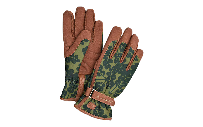 Burgon & Ball Oak Leaf Print Gardening Gloves, John Lewis & Partners