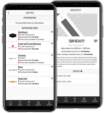 Select Store Screens for LINE PASS Application