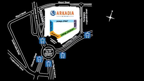 Arkadia - dojazd tramwajem