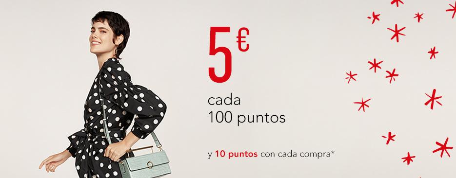 5€ CADA 100 PUNTOS Y 10 PUNTOS CON CADA COMPRA